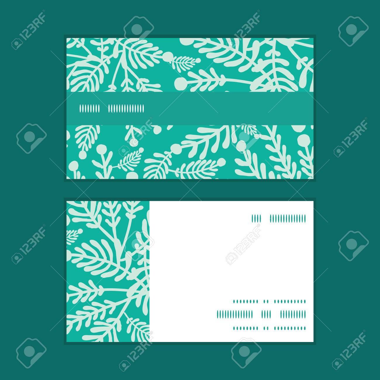 Vector Meraude Plantes Vertes Bande Horizontale Motif Dencadrement