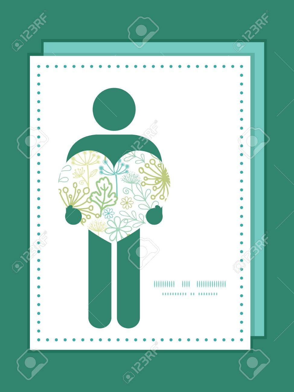 Vector mysterious green garden man in love silhouette frame pattern banco de imagens vector mysterious green garden man in love silhouette frame pattern invitation greeting card template stopboris Image collections