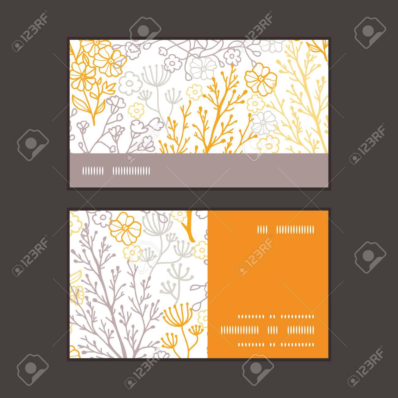 Vector Magiques Floraux Bande Horizontale Motif Dencadrement Cartes