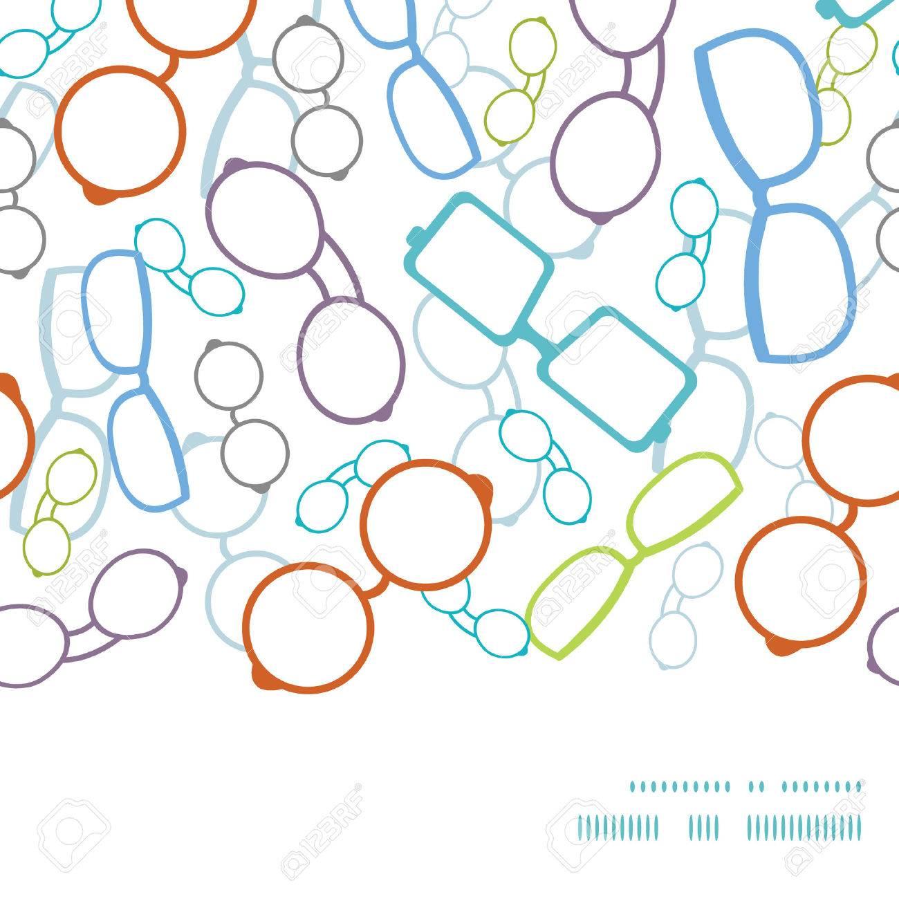 Vector Bunte Gläser Horizontalen Rahmen Nahtlose Muster Hintergrund ...