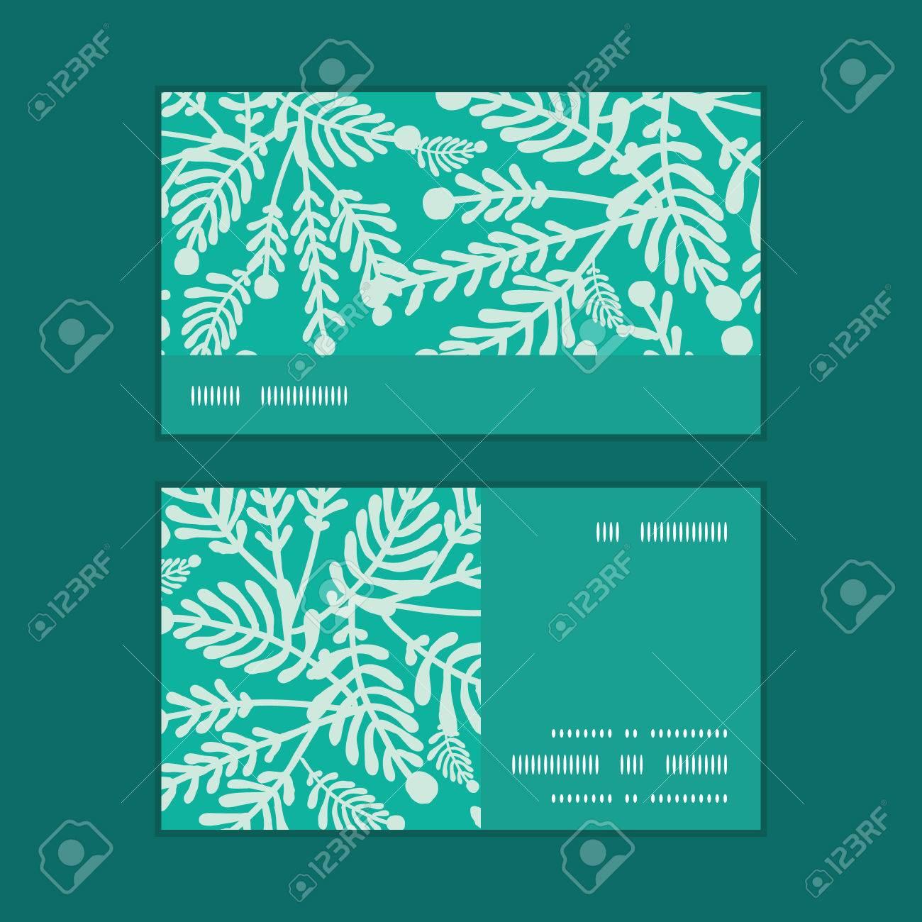 Vector Emeraude Plantes Vertes Bande Horizontale Motif Dencadrement