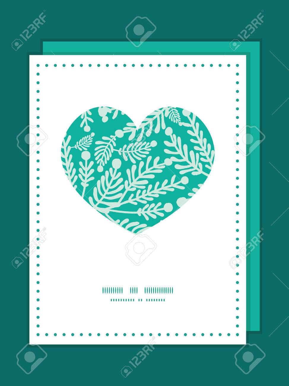 Vector emerald green plants heart symbol frame pattern invitation banco de imagens vector emerald green plants heart symbol frame pattern invitation greeting card template stopboris Image collections