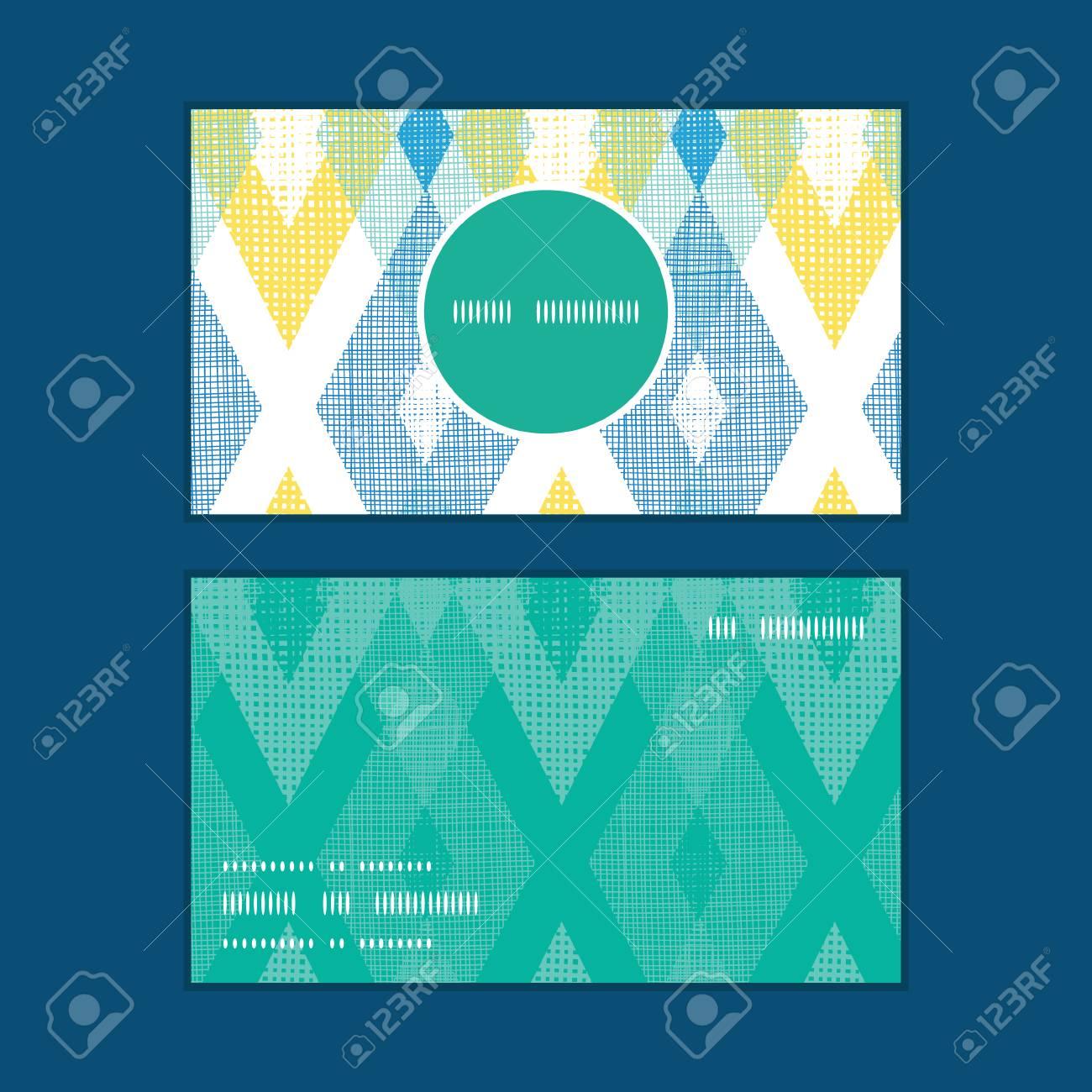 Vecteur Color Diamant Tissu Ikat Cadre Rond Vertical Modle Cartes