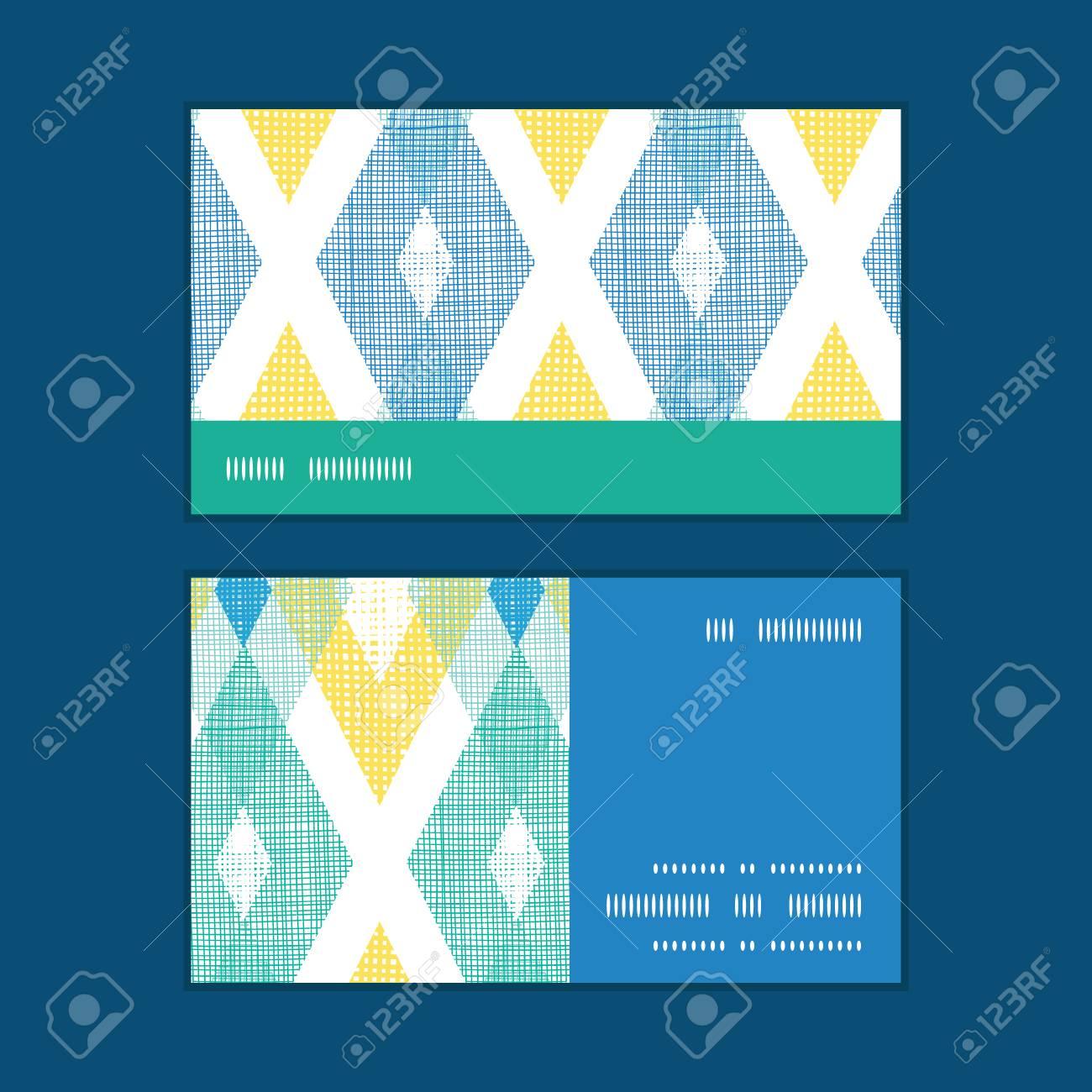 Vecteur Color Tissu Ikat Diamant Motif Dencadrement Bande