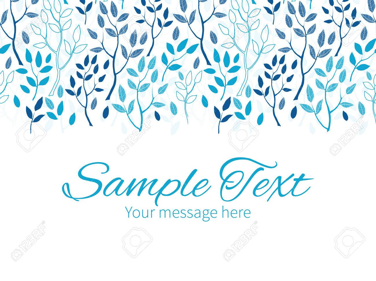 Vector blue forest horizontal border greeting card invitation vector blue forest horizontal border greeting card invitation template stock vector 40744633 kristyandbryce Image collections