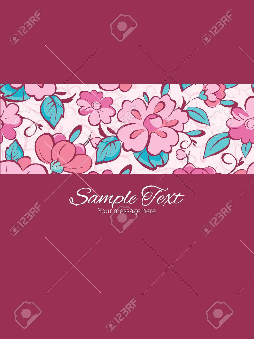 Vector pink blue kimono flowers stripe frame vertical card banco de imagens vector pink blue kimono flowers stripe frame vertical card invitation template graphic design stopboris Gallery