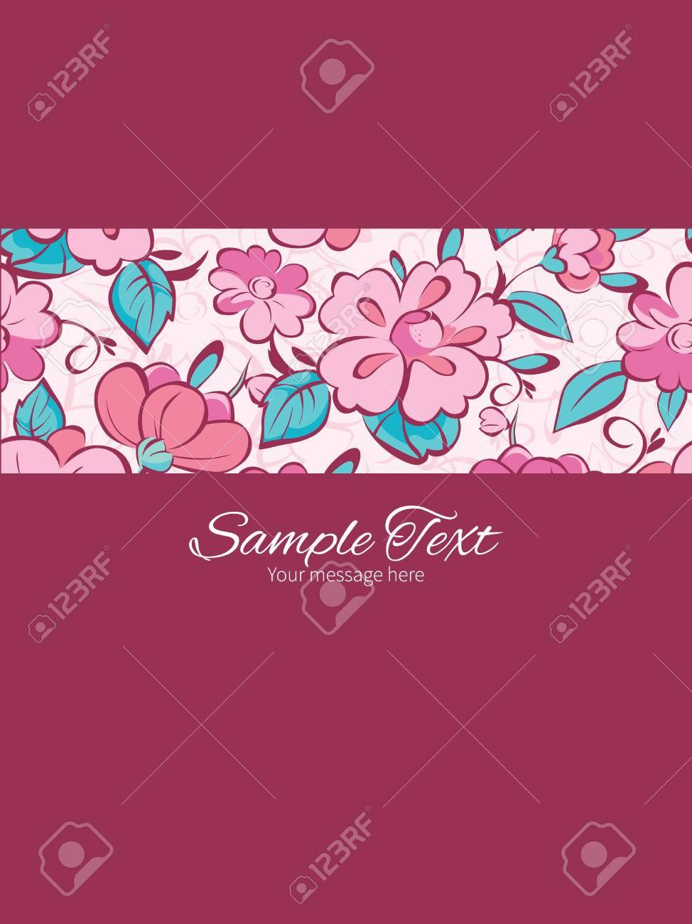 Vector pink blue kimono flowers stripe frame vertical card imagens vector pink blue kimono flowers stripe frame vertical card invitation template graphic design stopboris Images