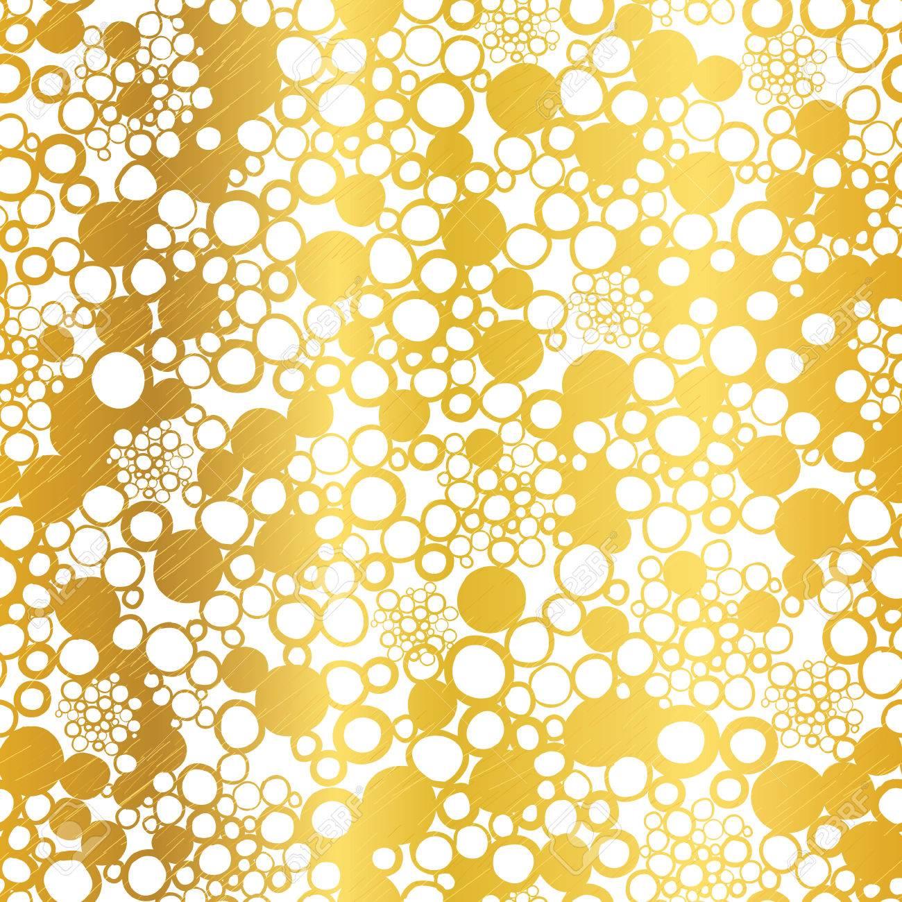 Vektor Goldene Auf Weiß Abstrakte Grunge Blasen Folie Textur ...