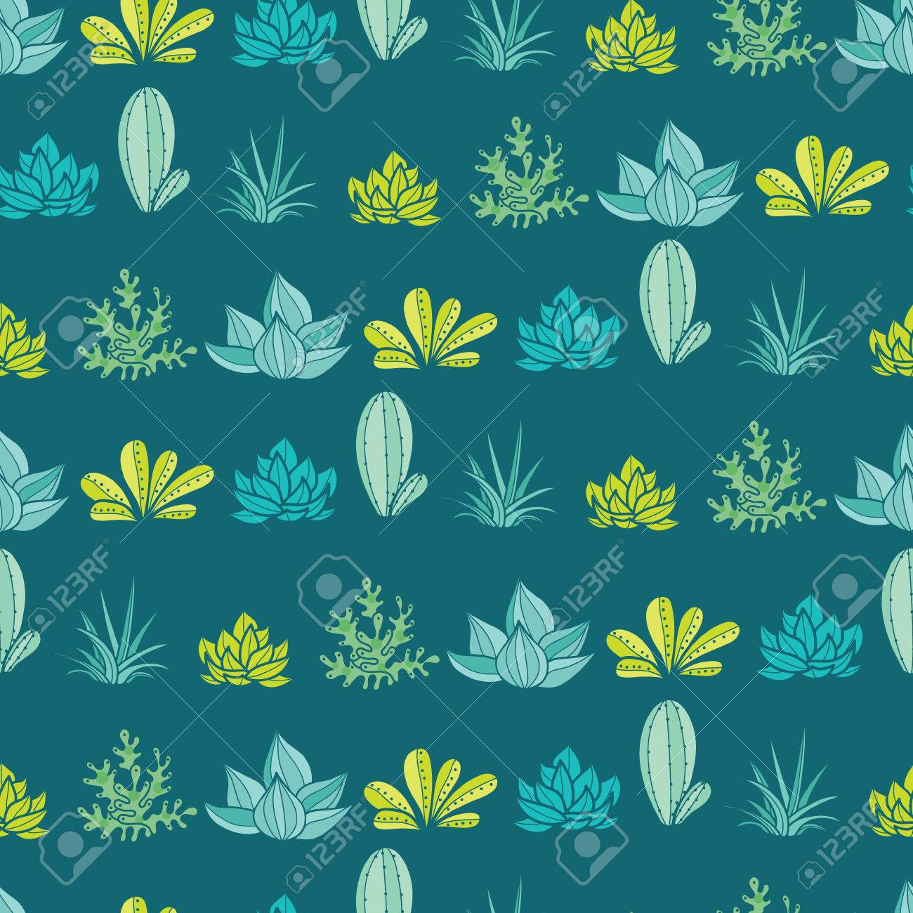 Vector Dark Blue Green Stripes Seamless Repeat Pattern With Growing Royalty Free Cliparts Vectors And Stock Illustration Image 76372816