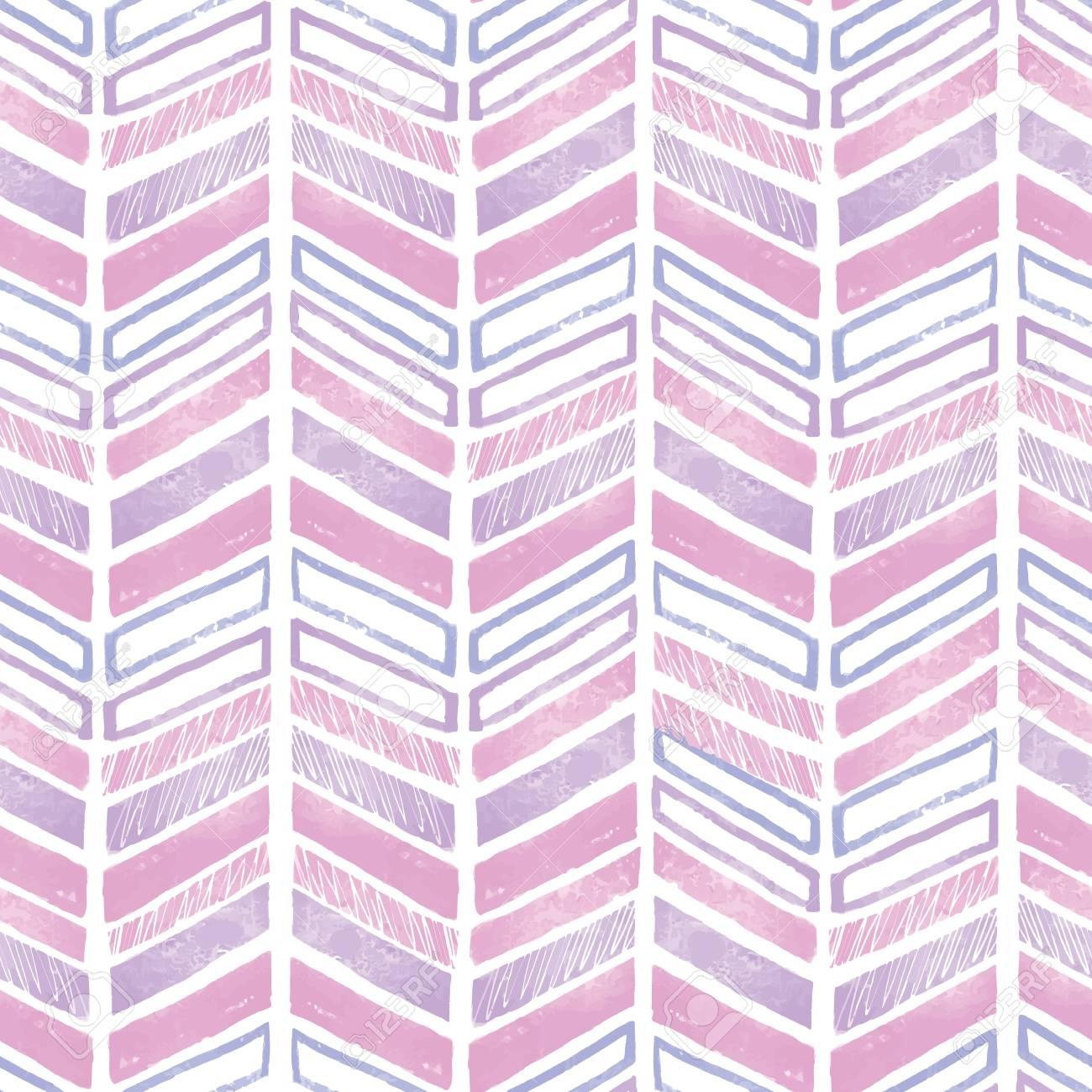 Purple Pink Tribal Chevron Repeat Pattern Design Great For Folk