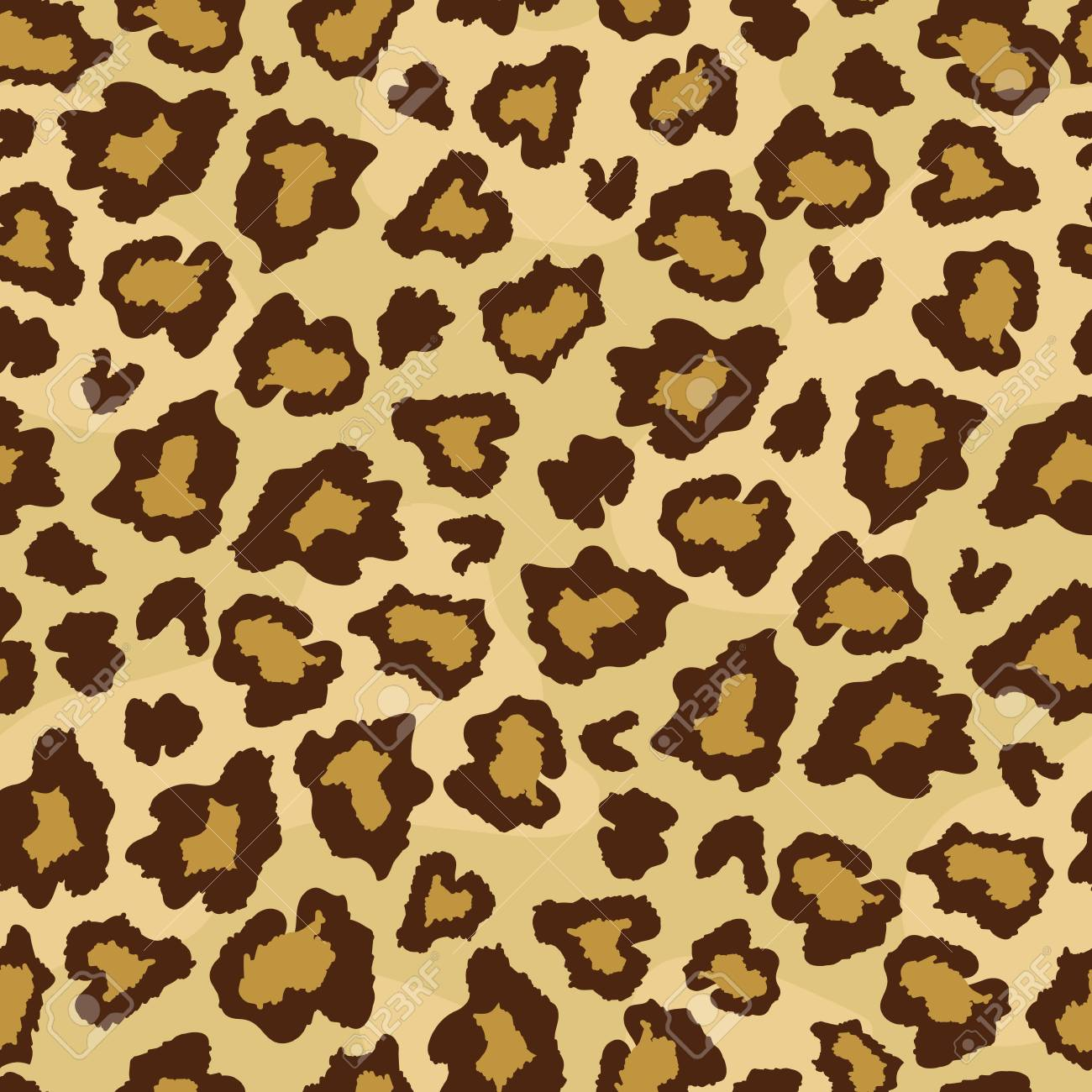 Leopard Skin Fur Print Seamless Pattern Great For Classic Animal