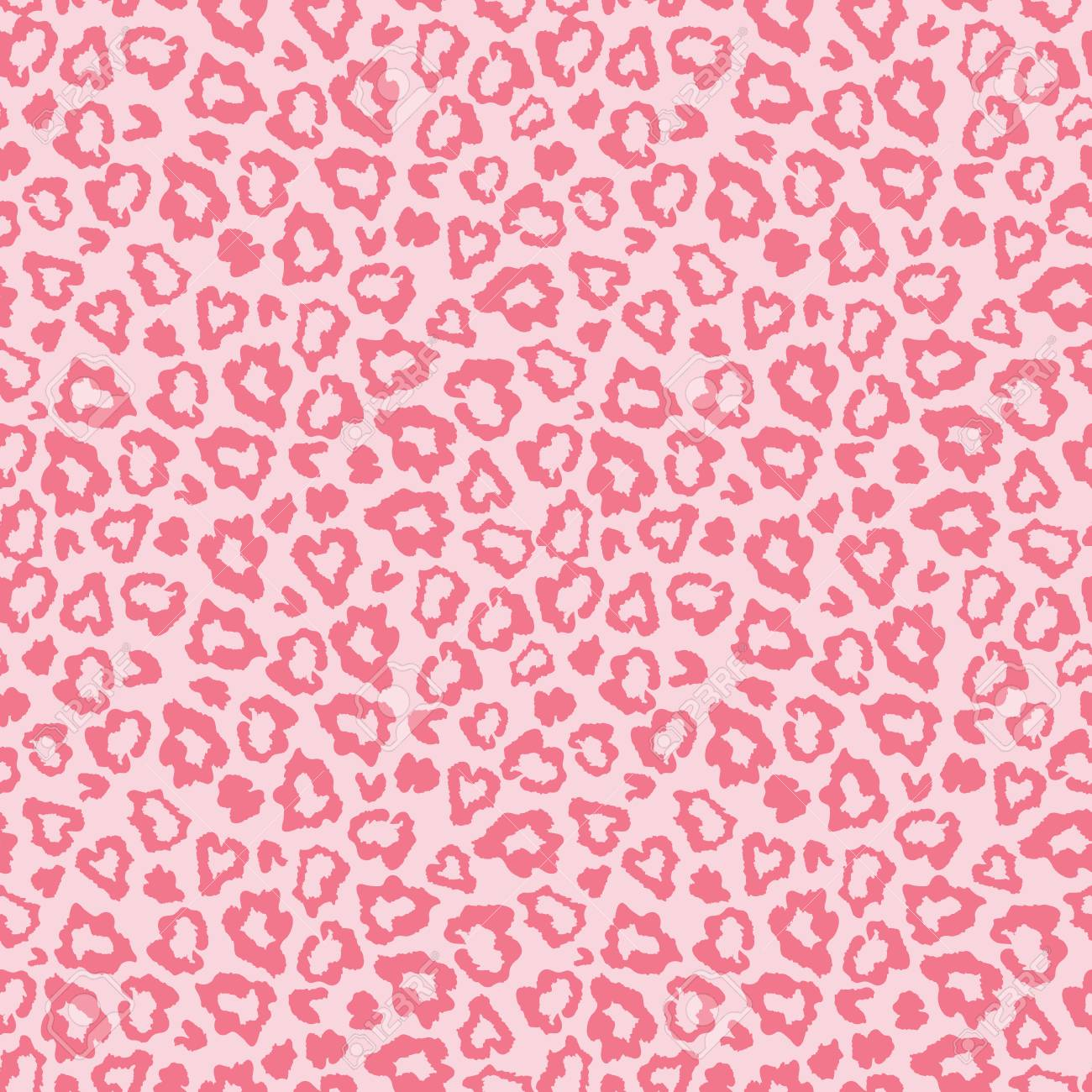 Pink Leopard Skin Fur Print Pattern Great For Classic Animal