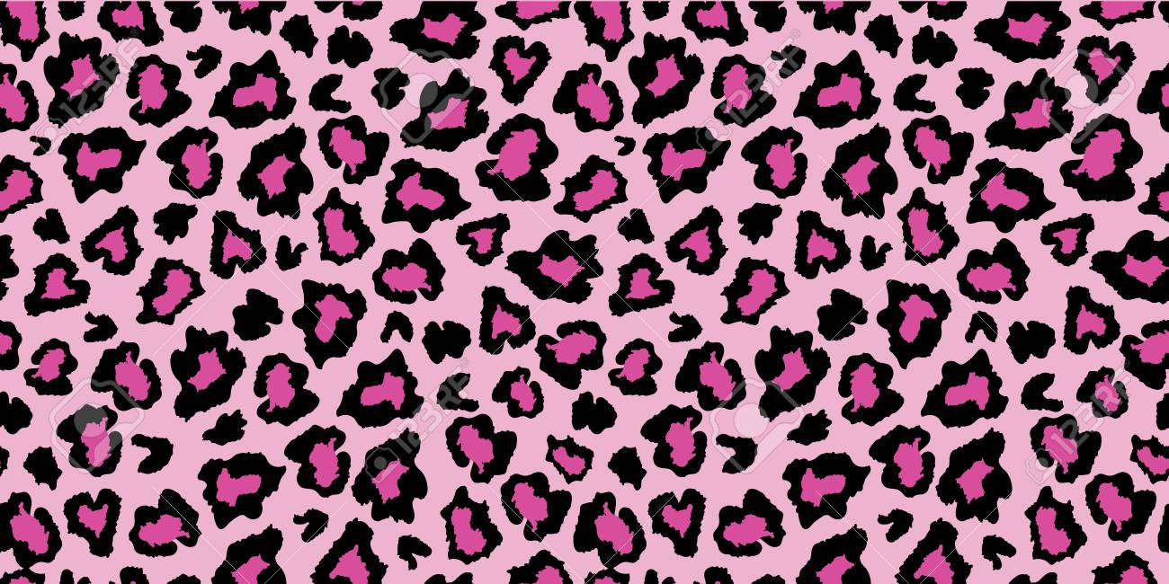 Pink And Black Leopard Skin Fur Print Pattern Great For Classic