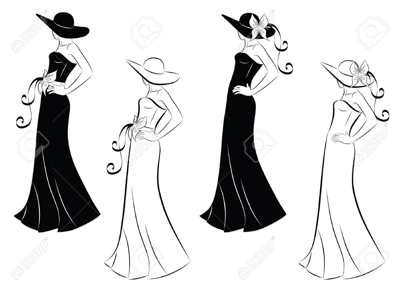 Dress in woman outline new photo