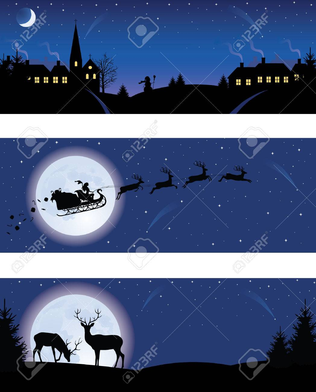 Christmas banners. Stock Vector - 8019885