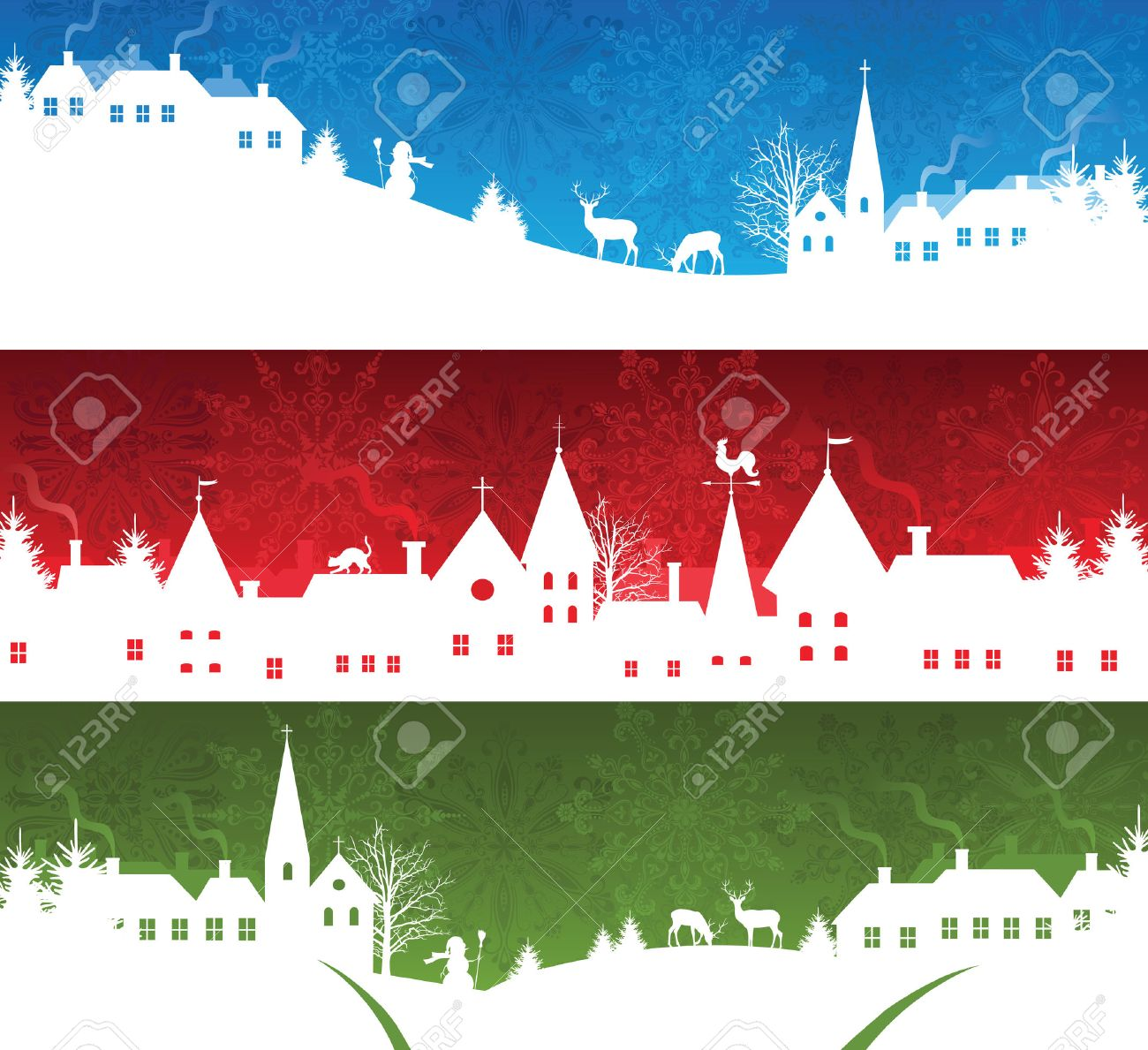 Set of a christmas banners Stock Vector - 8301793