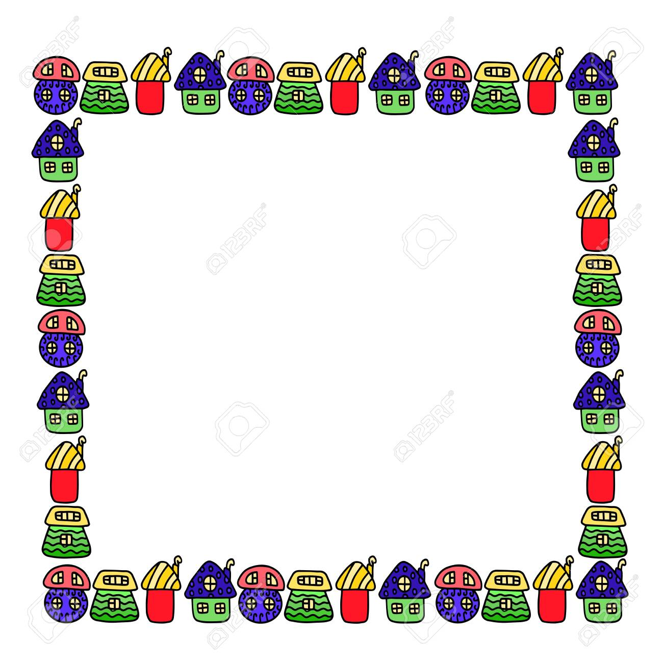 Beautiful children's frame for photos from children's homes. - 147583498