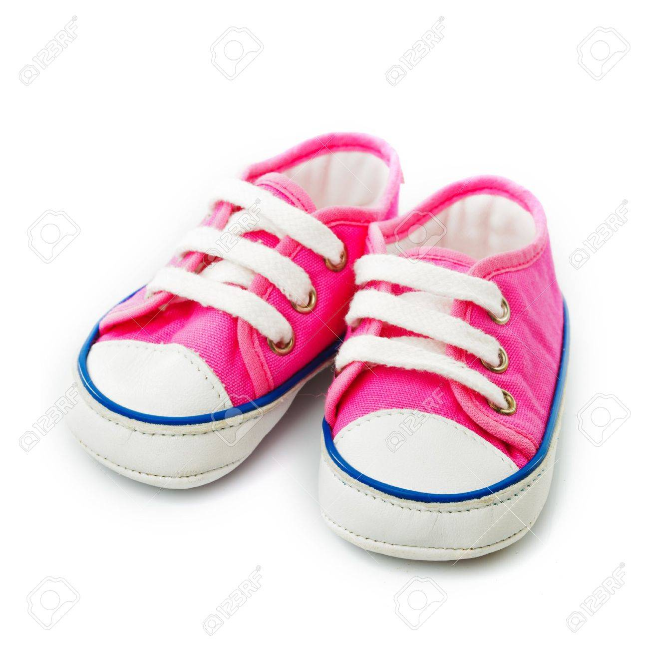 Pink Baby Footwear - Gymshoes Isolated On White Stock Photo ...