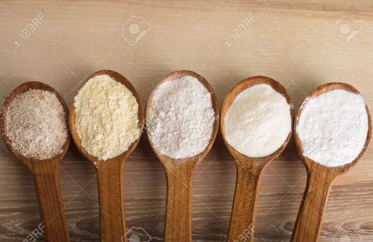 Verschillende soorten meel