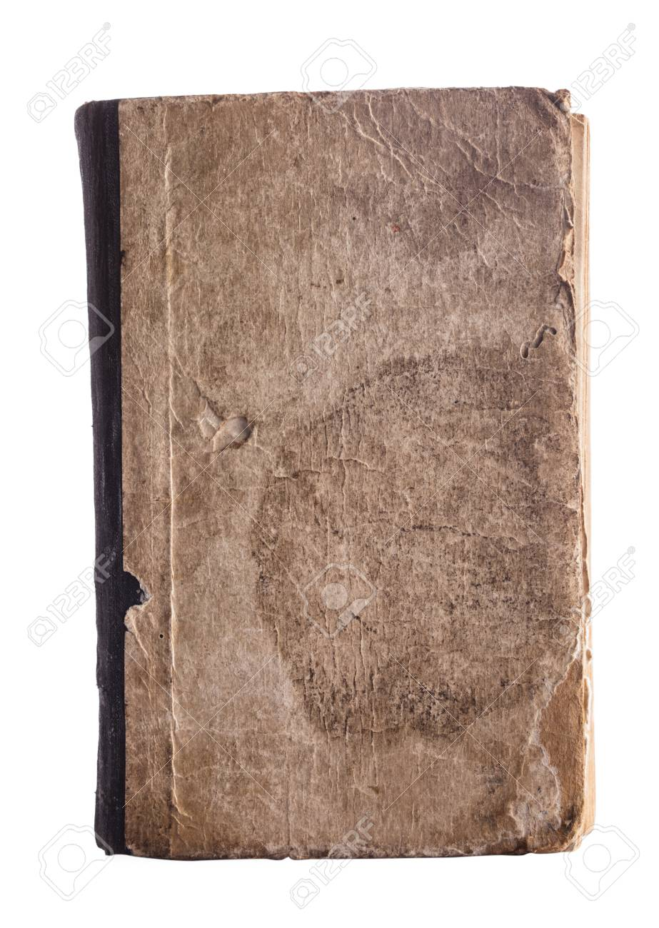Old book cover isolated on white Stock Photo - 17304789