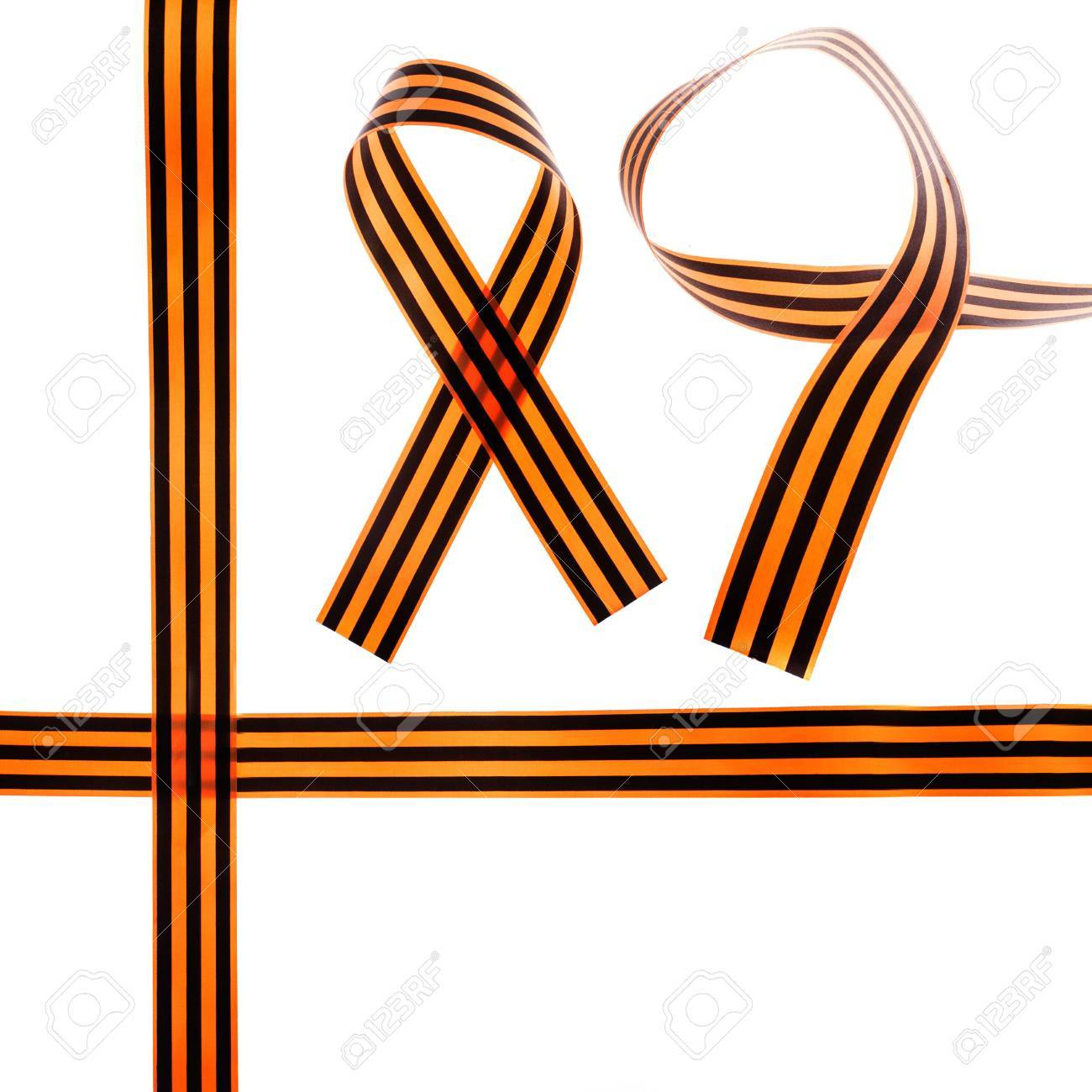 St. George Ribbon - symbol of russian military prowess Stock Photo - 19614455