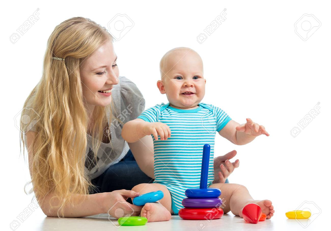 baby boy and mother playing together Stock Photo - 17605112