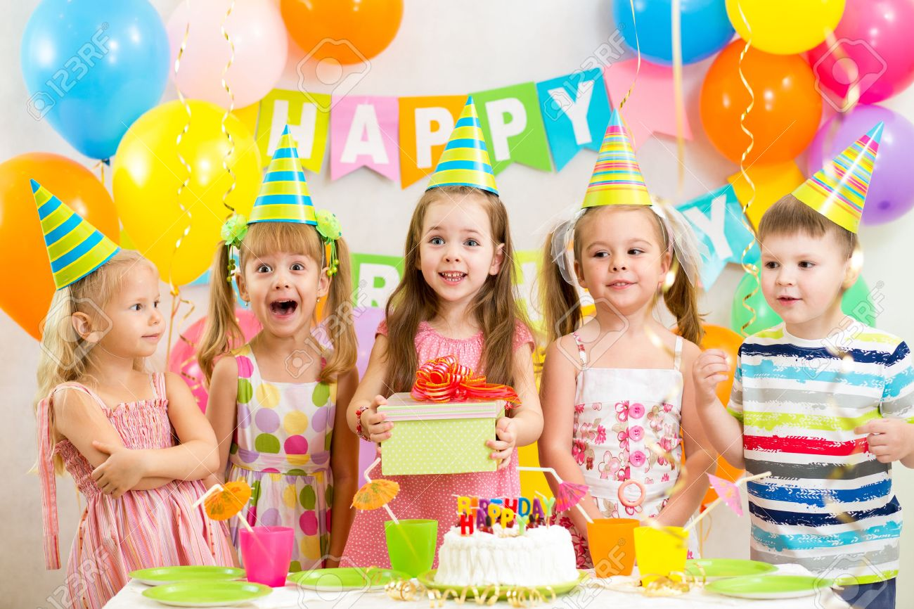 kids or children  on birthday party Stock Photo - 22847376