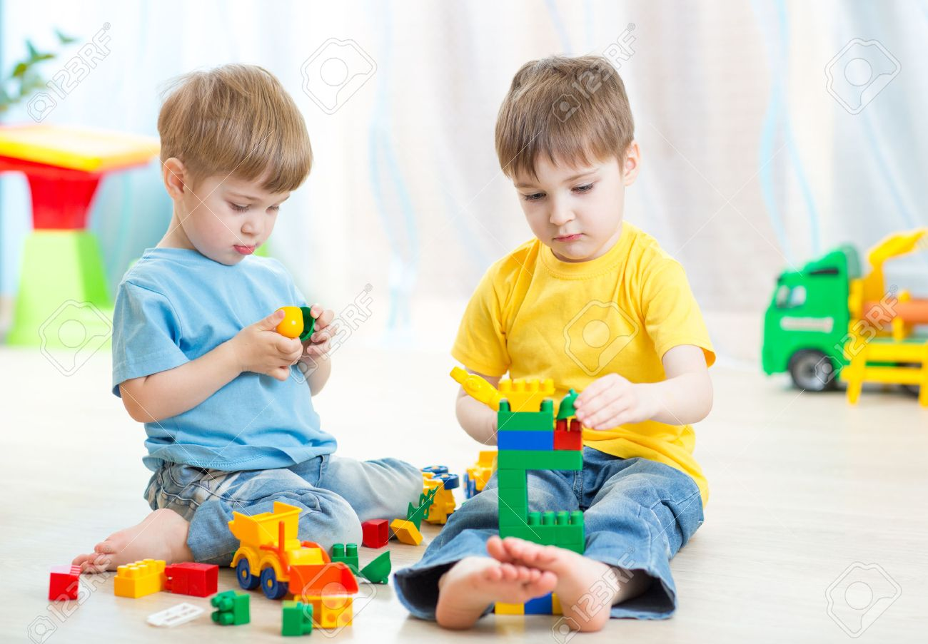 Children Play In Nursery Stock Photo, Picture And Royalty Free ...