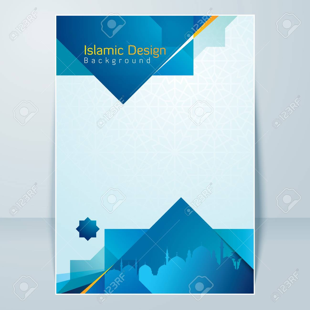 islamic banner design background template royalty free cliparts