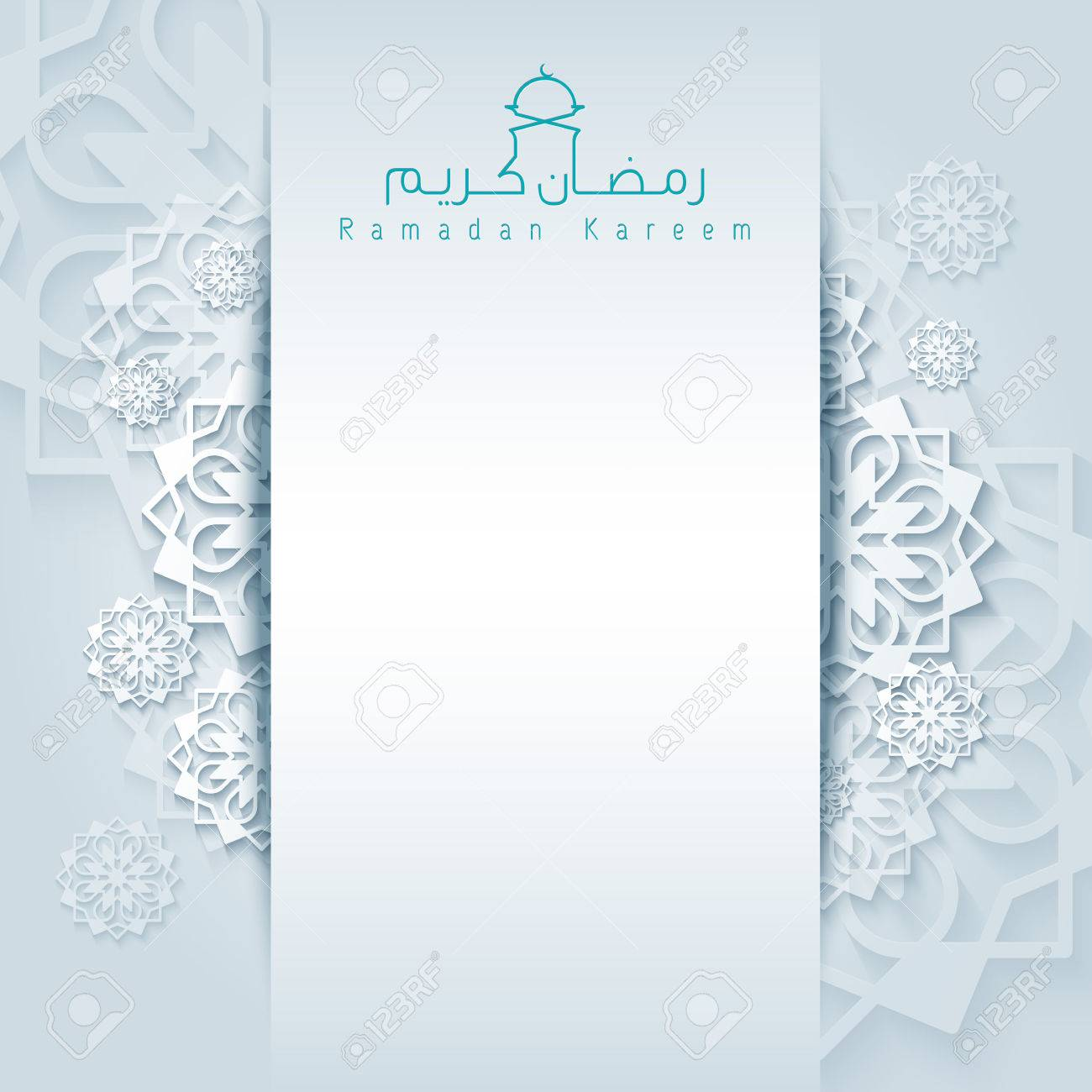 Ramadan kareem background greeting card with arabic pattern islamic calligraphy - 56801206