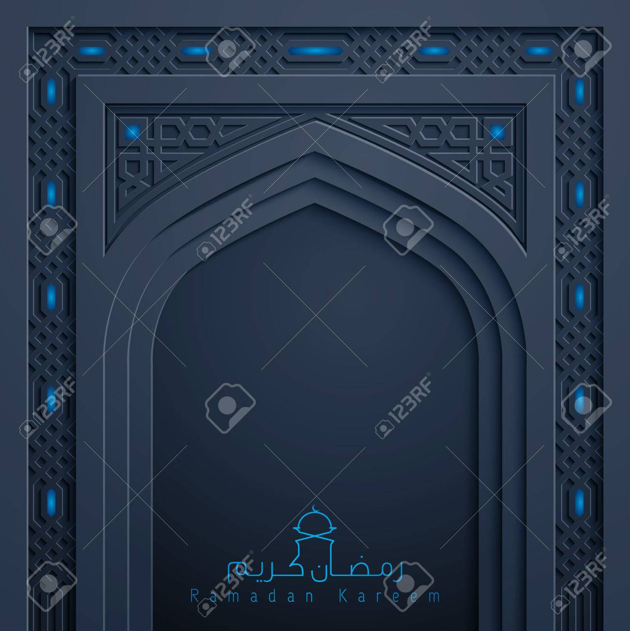 Ramadan Kareem greeting background islamic design mosque door arabic pattern Stock Vector - 57004183  sc 1 st  123RF.com & Ramadan Kareem Greeting Background Islamic Design Mosque Door ...