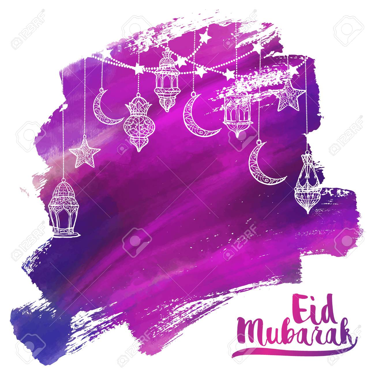 Eid mubarak greeting card islamic vector acrylic arabic lantern eid mubarak greeting card islamic vector acrylic arabic lantern lamp illustration for banner background stock m4hsunfo