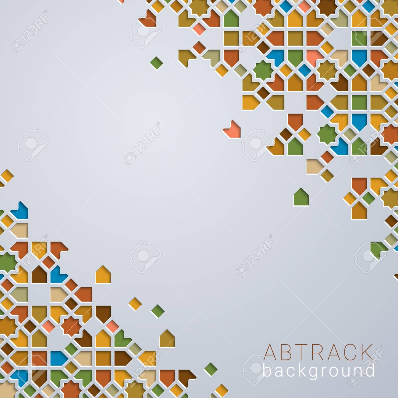 Abstrac background colorfull morocco geometric pattern - 120643752