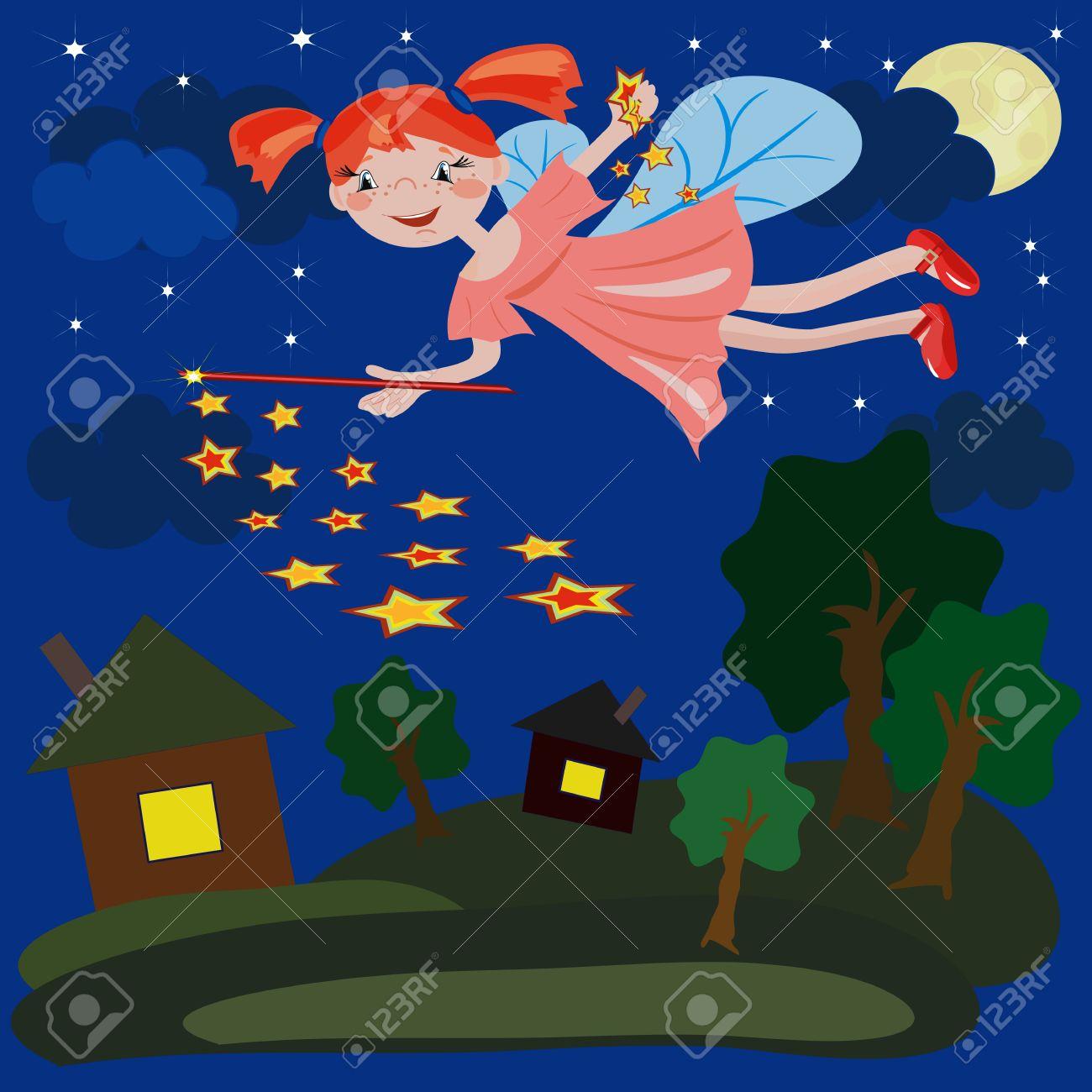 Night  fairy. Stock Vector - 7729897