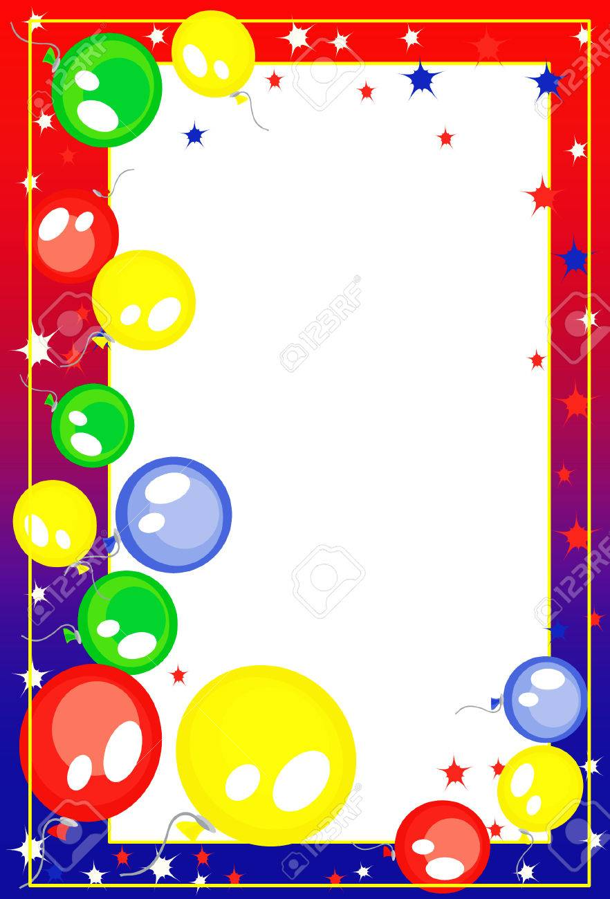 Background-frame  with balloons Stock Vector - 8129207