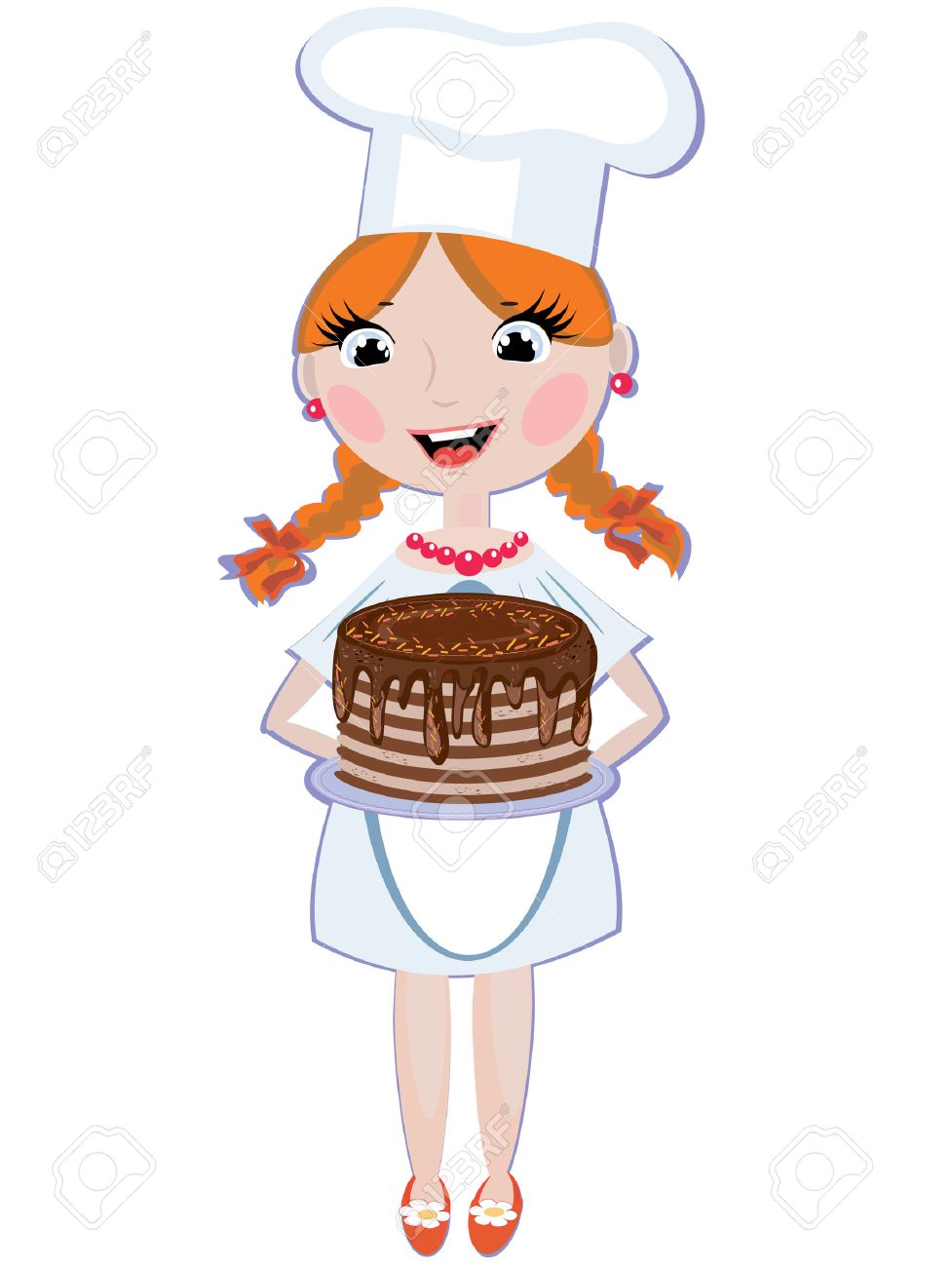 Girl cook Stock Vector - 8569484