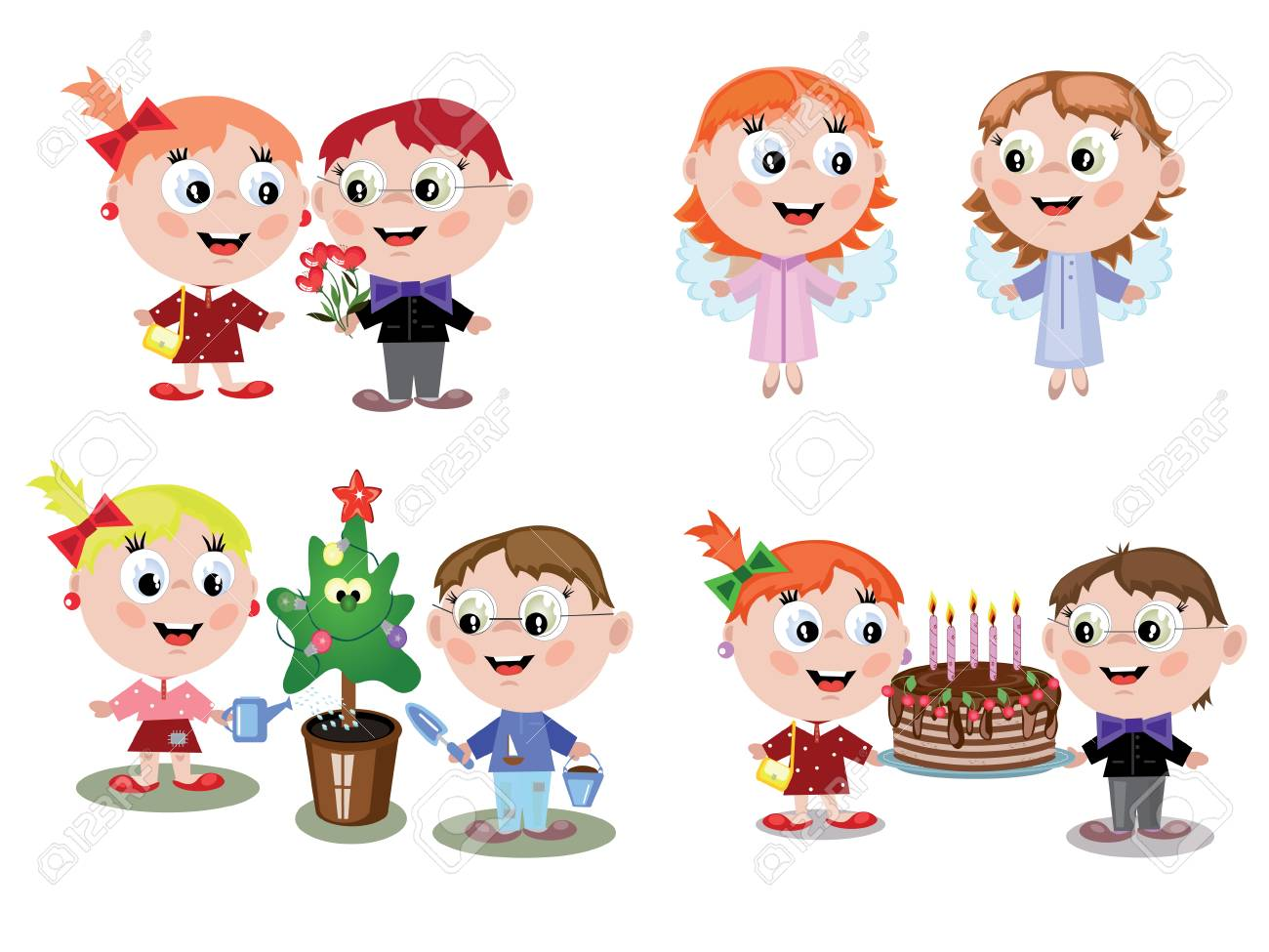 Children holiday Stock Vector - 8623493