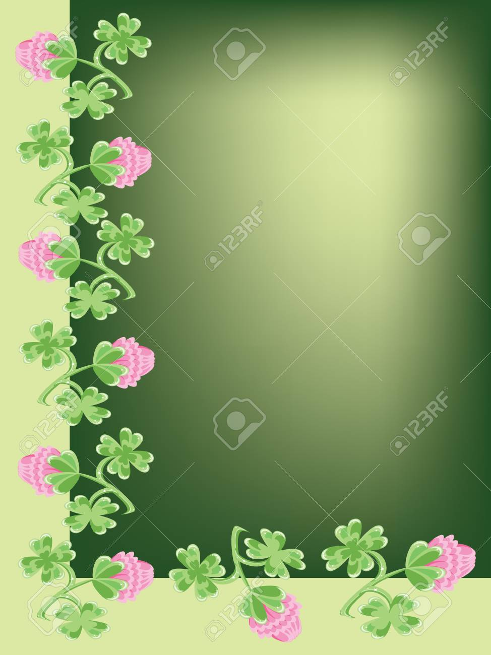 Background with clovers Stock Vector - 8958972