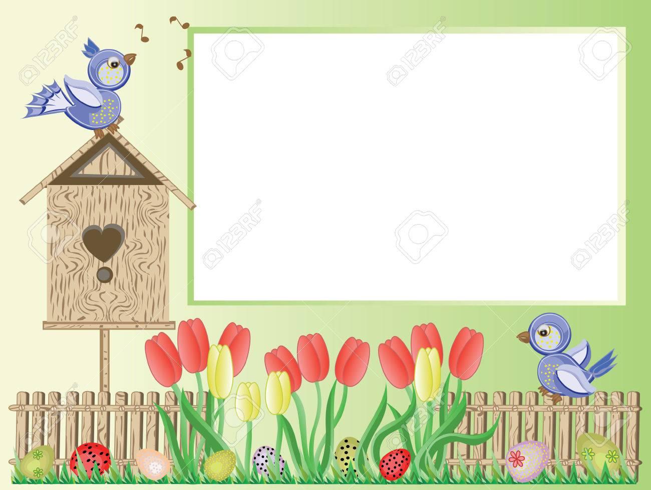 Easter frame Stock Vector - 9008938