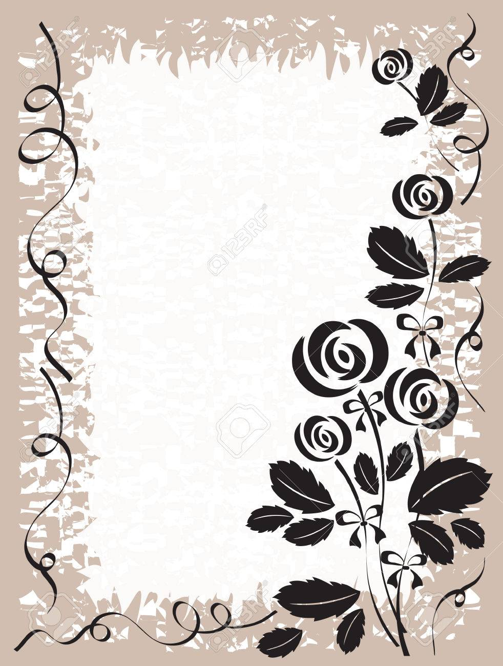 Frame with rosers Stock Vector - 9104994