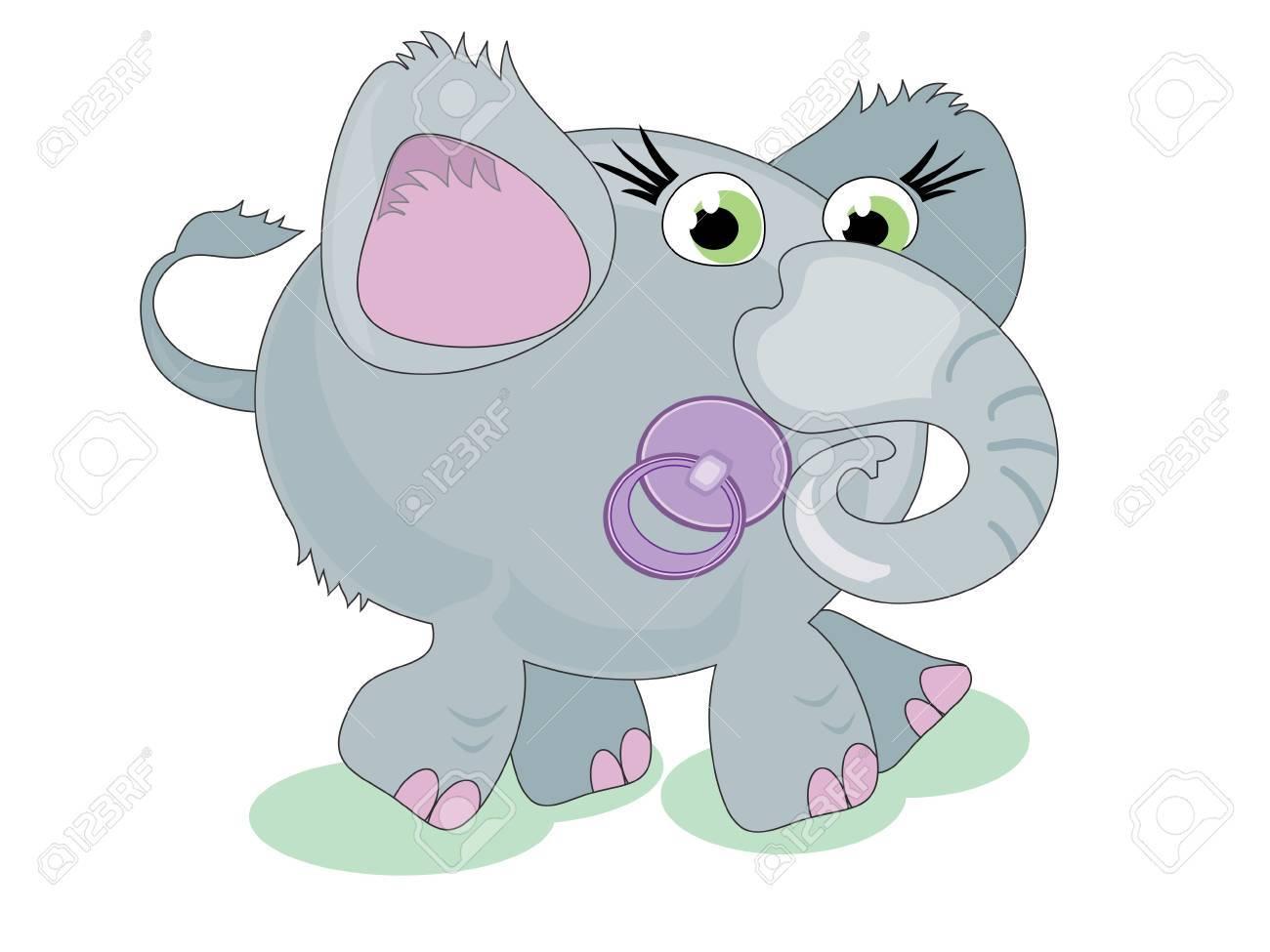 Baby elephant with nipple Stock Vector - 9335365
