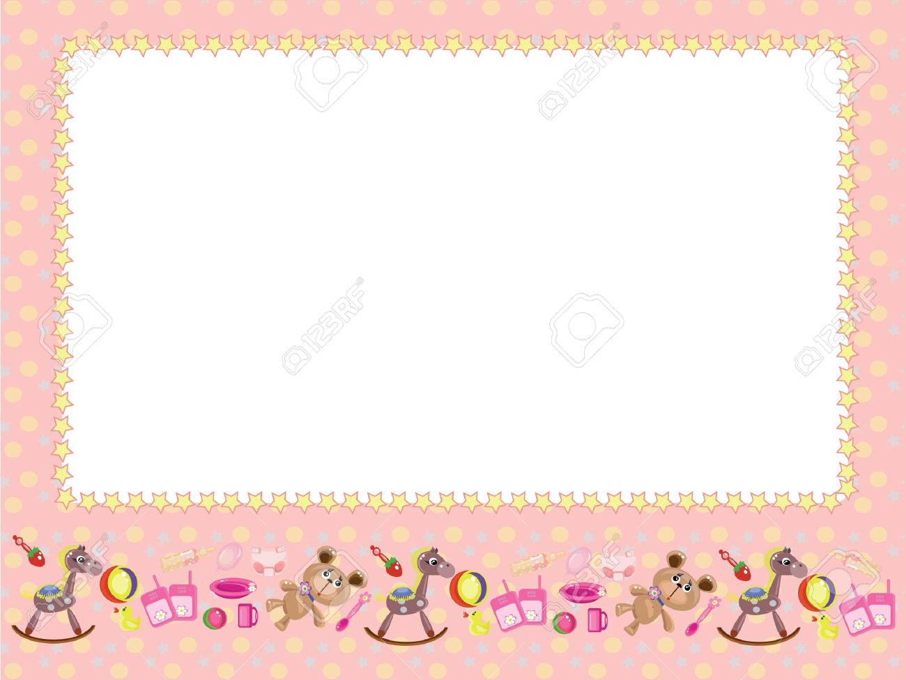 children frame stock vector 9335378