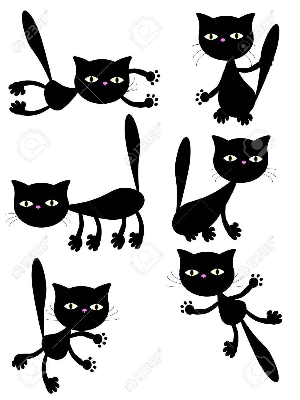 black cats. Stock Vector - 10115597