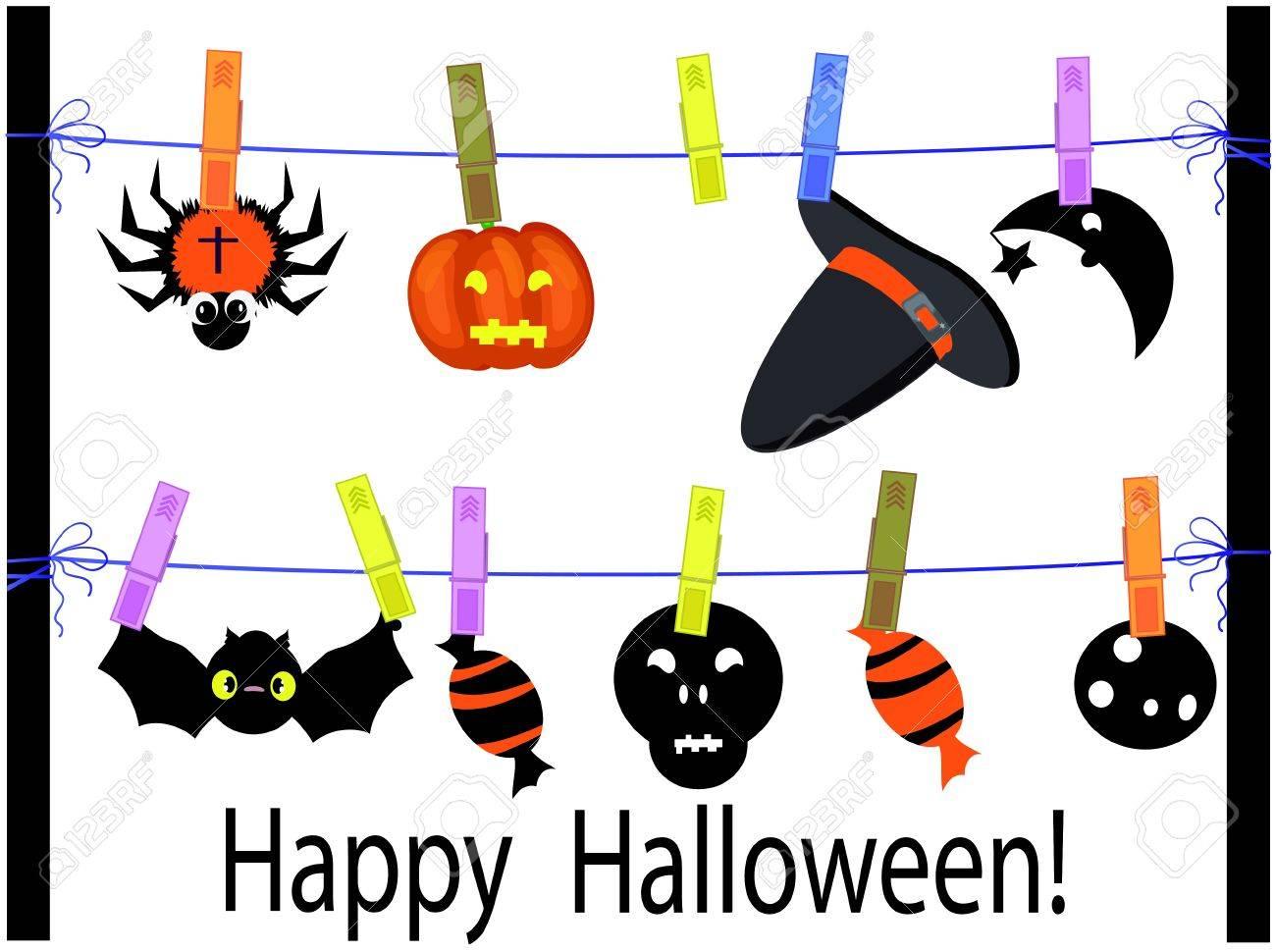 Halloween card Stock Vector - 10115608