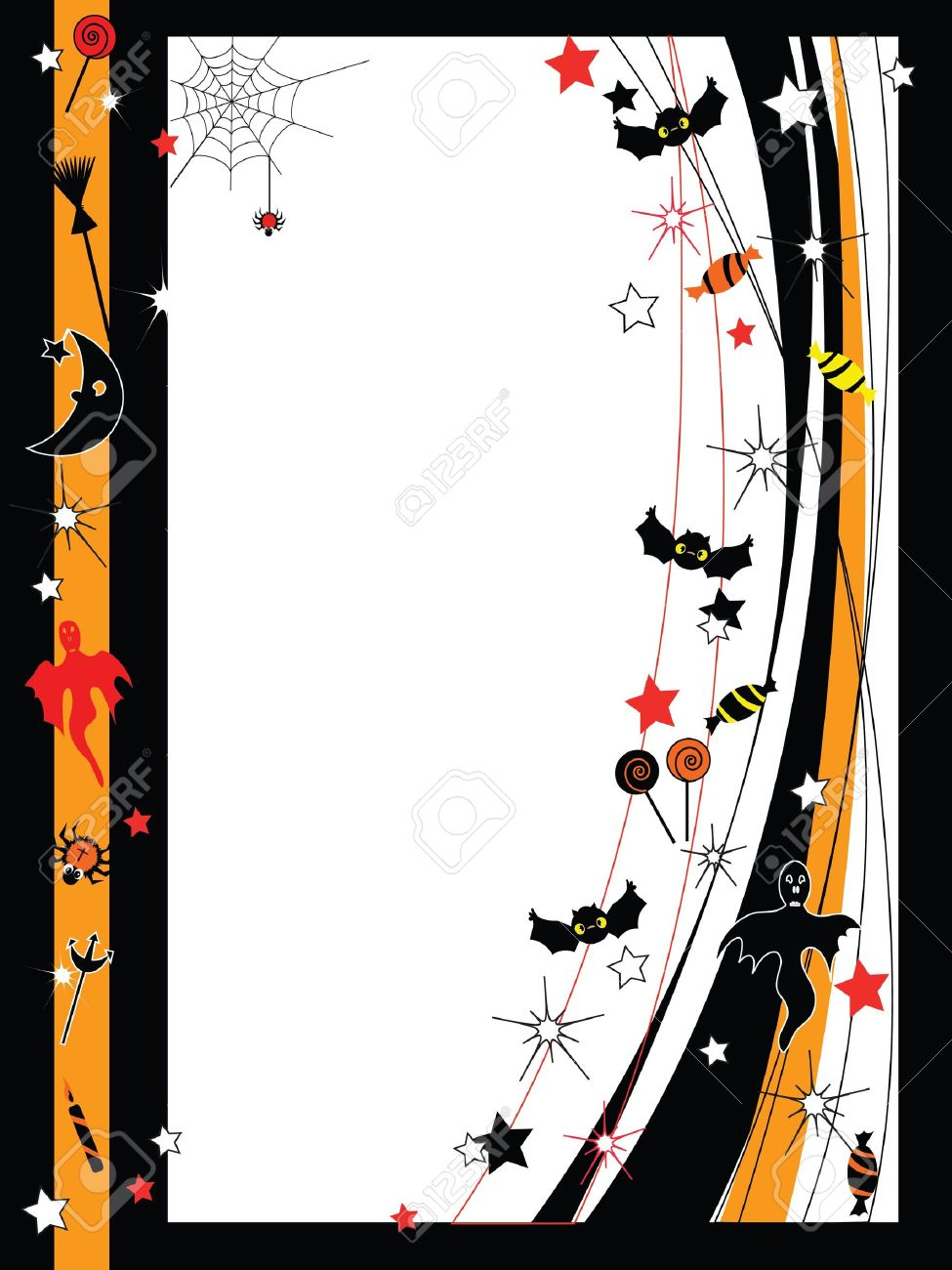 Vector Halloween frame Stock Vector - 10413145