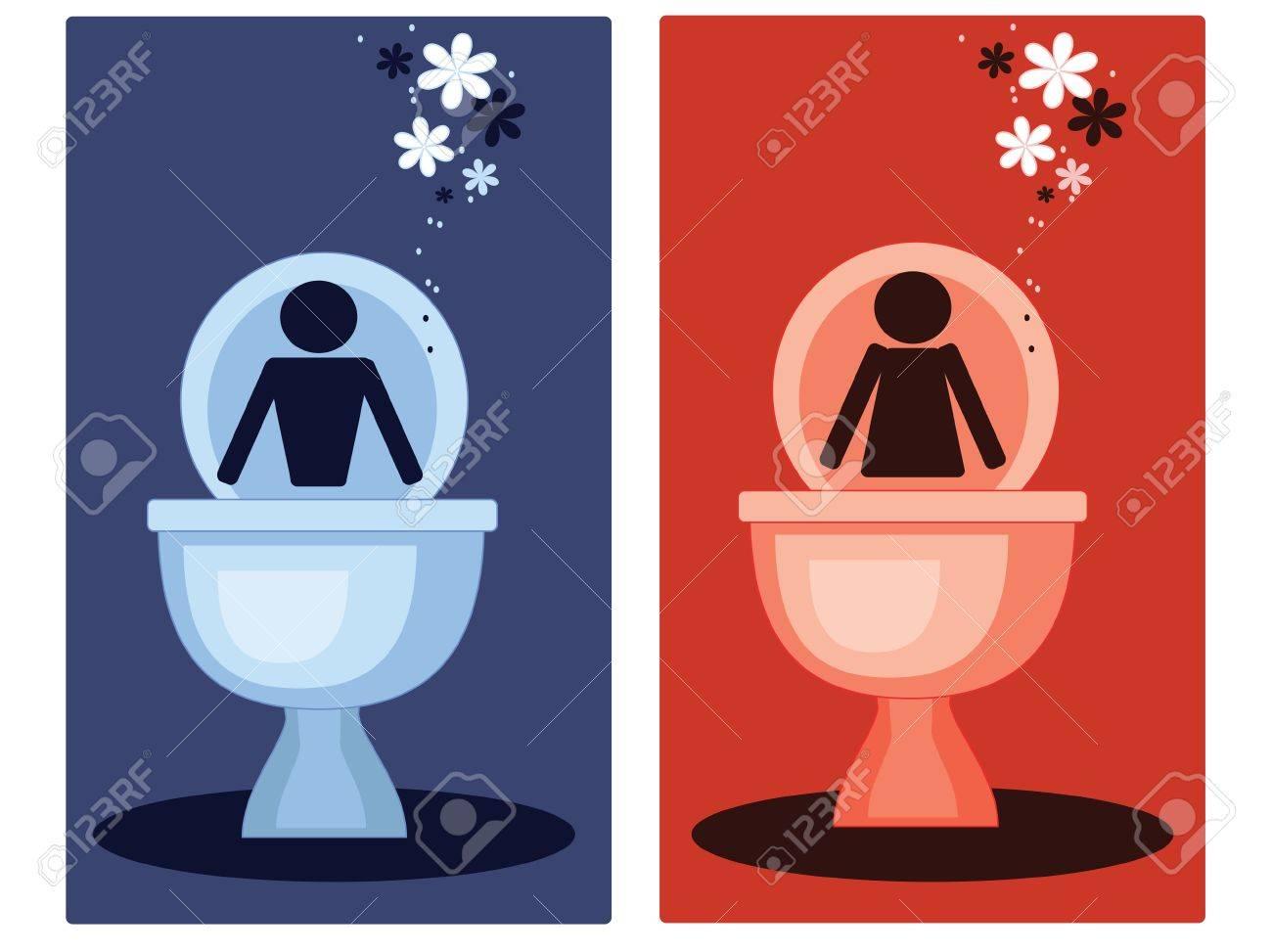 Toilet symbols,vector Stock Vector - 10545394