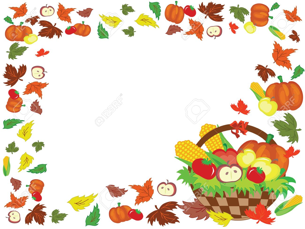 Thanksgiving Day,frame Royalty Free Cliparts, Vectors, And Stock ...