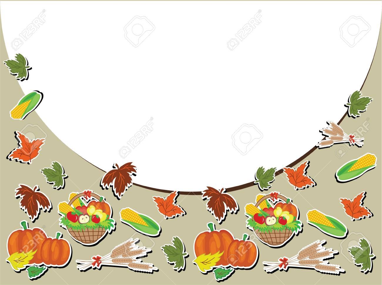 Thanksgiving day,vector frame. Stock Vector - 10624543