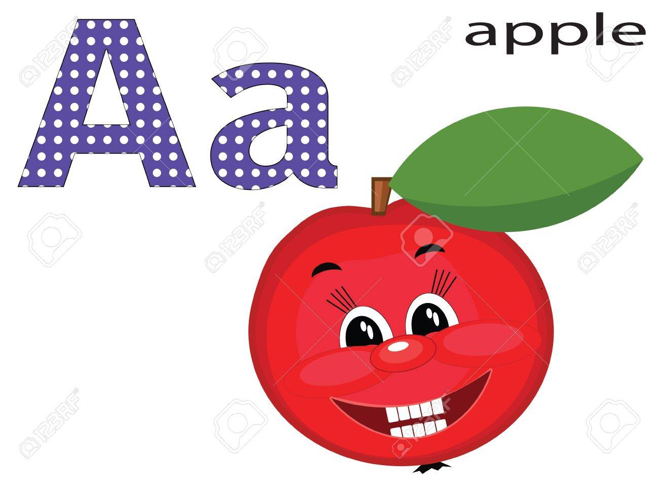 Children alphabet , A. Stock Vector - 11654841