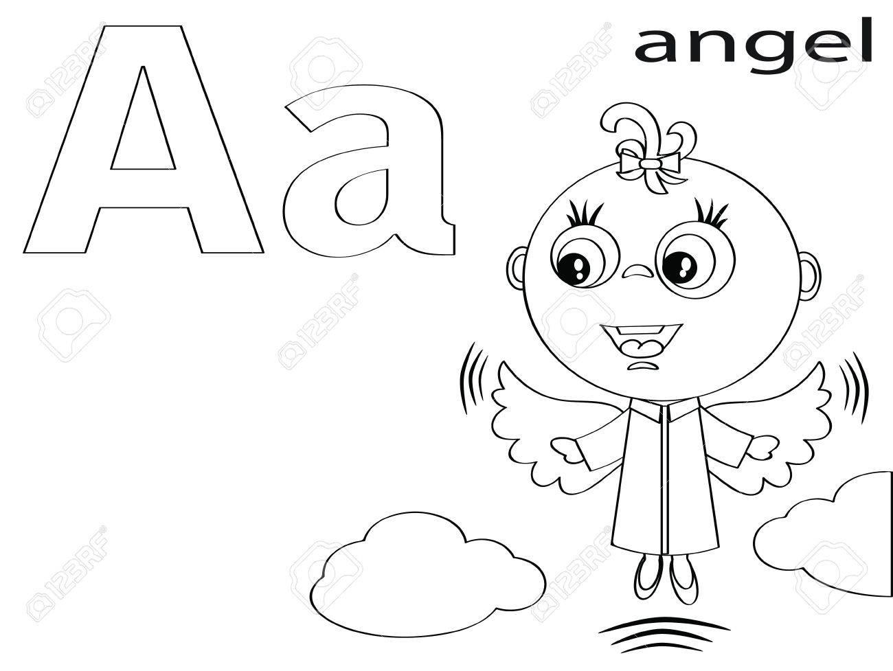 Alfabeto Para Colorear Para Niños Un